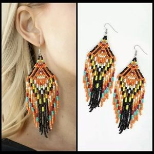 Paparazzi seed bead earrings NEW